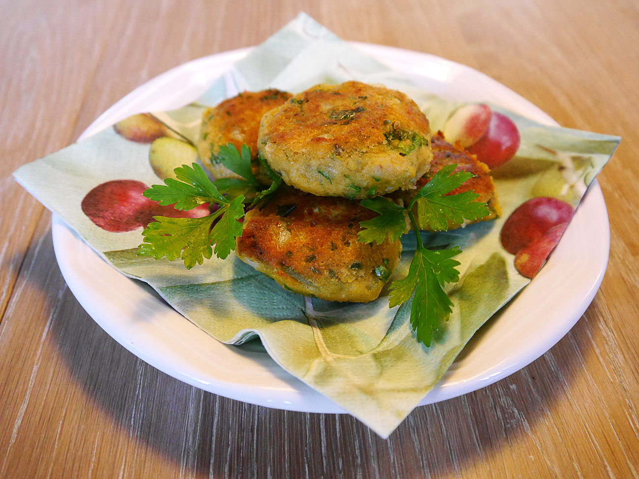 falafel met verse peterselie