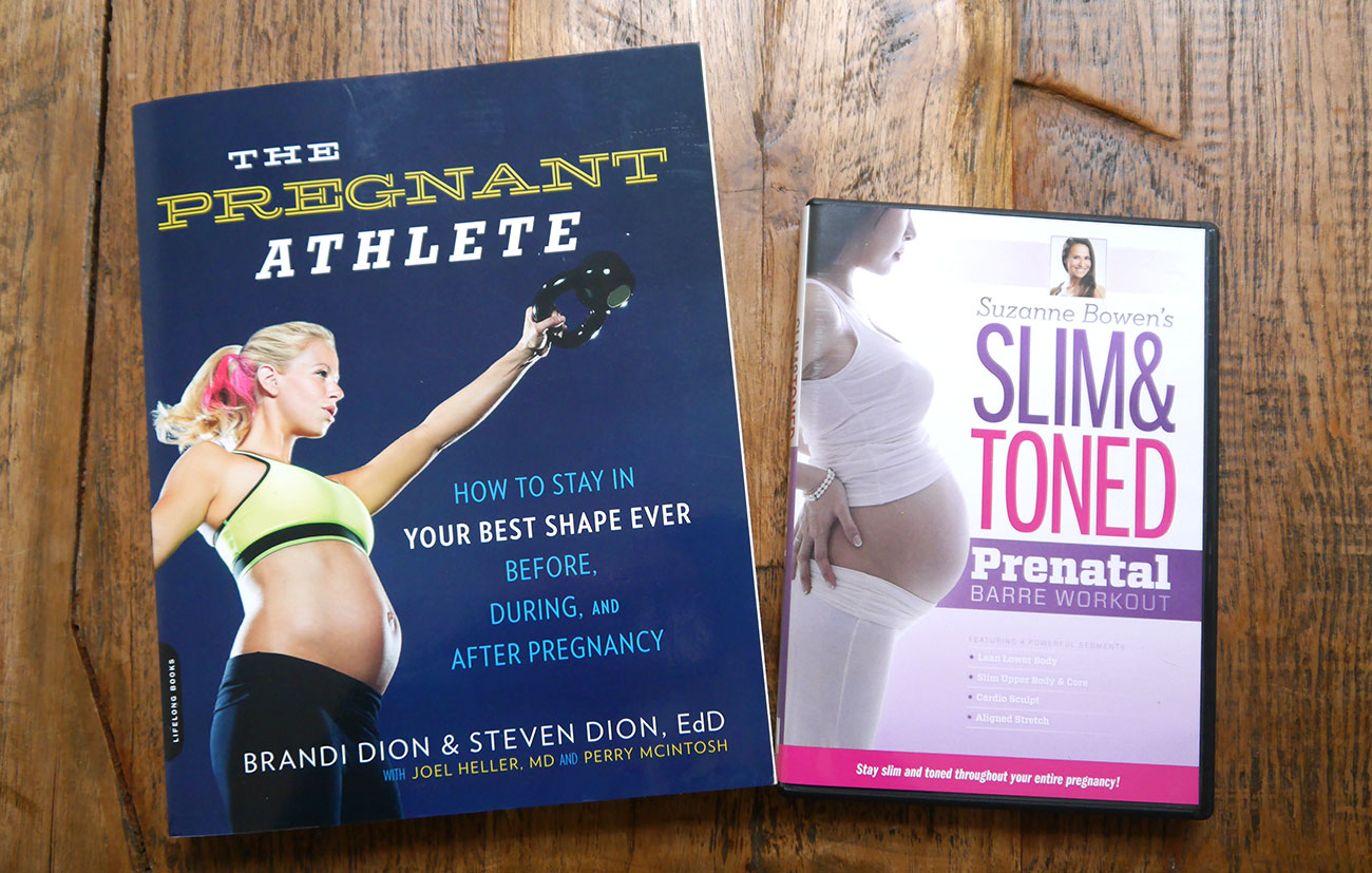 The pregnant athlete boek en Slim&Toned prenatal workout DVDs